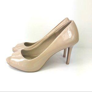 Dexflex Comfort Nude peep-toe heels  Size 6.5